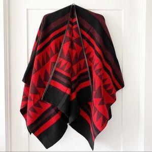 EXPRESS Aztec Print Blanket Wrap Shawl